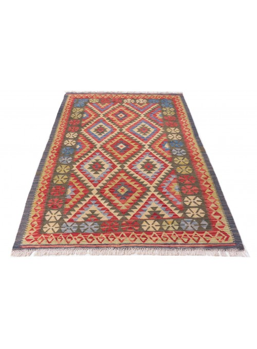 Carpet Kielim Maimana Colorful 140x210 cm Afghanistan - 100% Wool