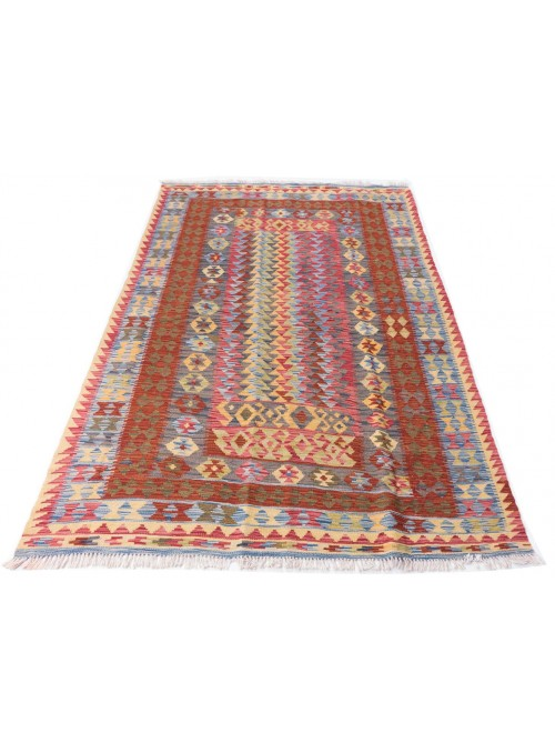 Carpet Kielim Maimana Colorful 150x210 cm Afghanistan - 100% Wool
