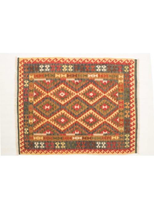 Carpet Kielim Maimana Beige 150x190 cm Afghanistan - 100% Wool