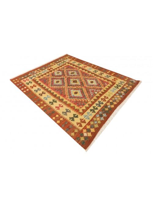 Carpet Kielim Maimana Beige 160x200 cm Afghanistan - 100% Wool