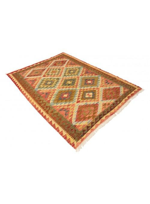 Carpet Kielim Maimana Red 150x200 cm Afghanistan - 100% Wool