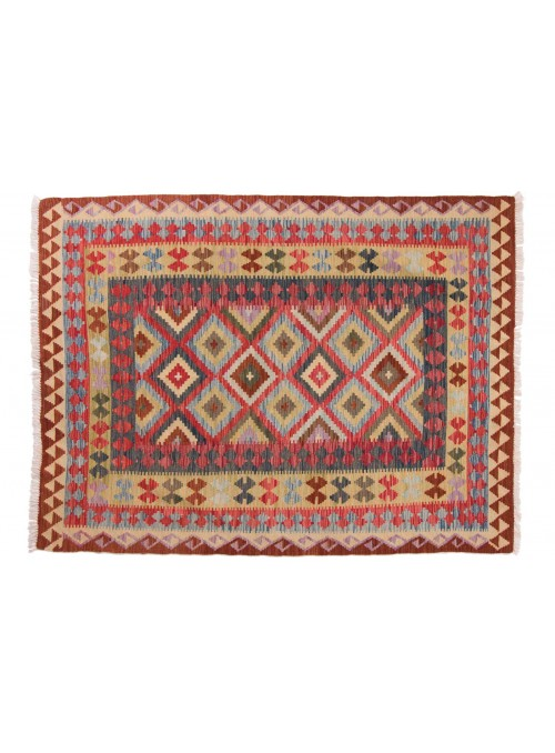 Carpet Kielim Maimana Colorful 150x200 cm Afghanistan - 100% Wool