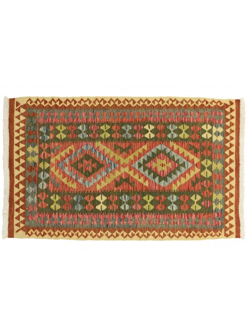 Carpet Kielim Maimana Colorful 110x180 cm Afghanistan - 100% Wool