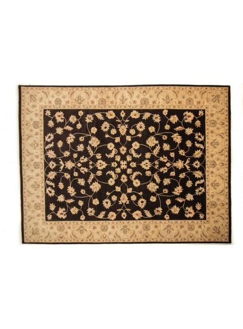 Dywan Chobi Czarny 280x360 cm Afganistan - 100% Wełna owcza wysokogórska