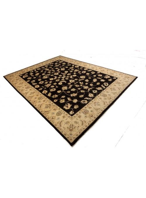 Teppich Chobi Schwarz 280x360 cm Afghanistan - 100% Hochlandschurwolle