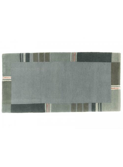 Teppich Nepal Blau 70x140 cm Indien - 100% Schurwolle