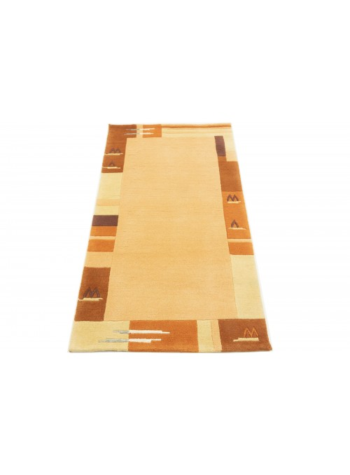 Carpet Nepal Orange 90x160 cm India - 100% Wool