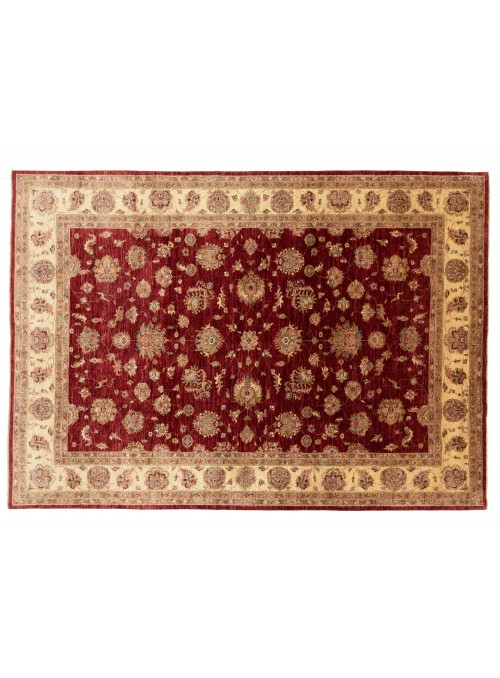 Dywan Chobi Czerwony 240x340 cm Afganistan - 100% Wełna owcza wysokogórska