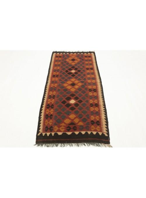 Carpet Kielim Maimana Orange 100x200 cm Afghanistan - Sheep wool