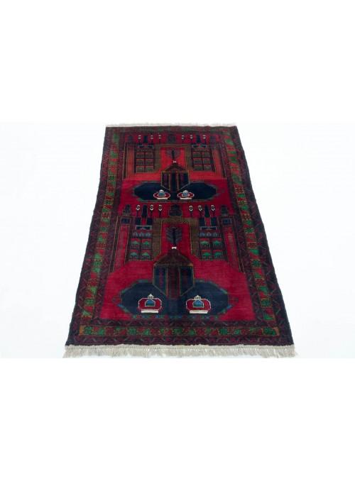 Teppich Beloutsch Rot 110x190 cm Afghanistan - 100% Schurwolle