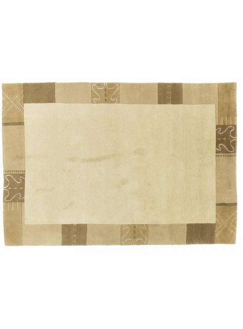Teppich Nepal Beige 120x180 cm Indien - 100% Schurwolle