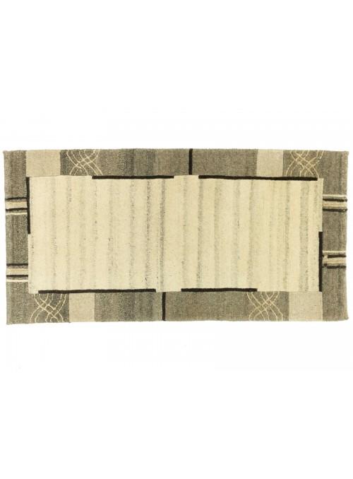 Teppich Nepal Beige 70x140 cm Indien - 100% Schurwolle
