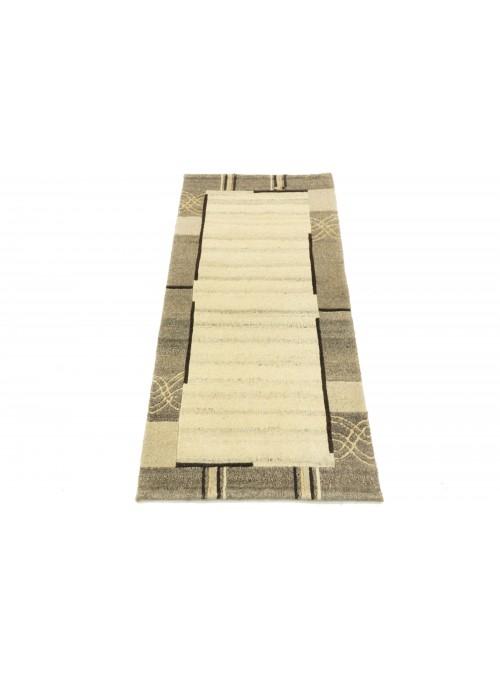 Dywan Nepal Beżowy 70x140 cm Indie - 100% Wełna owcza