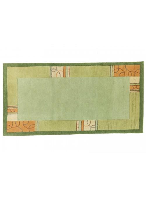 Dywan Nepal Zielony 80x150 cm Indie - 100% Wełna owcza