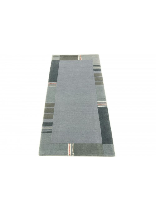 Carpet Nepal Blue 70x140 cm India - 100% Wool
