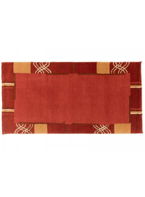 Dywan Nepal Czerwony 70x140 cm Indie - 100% Wełna owcza