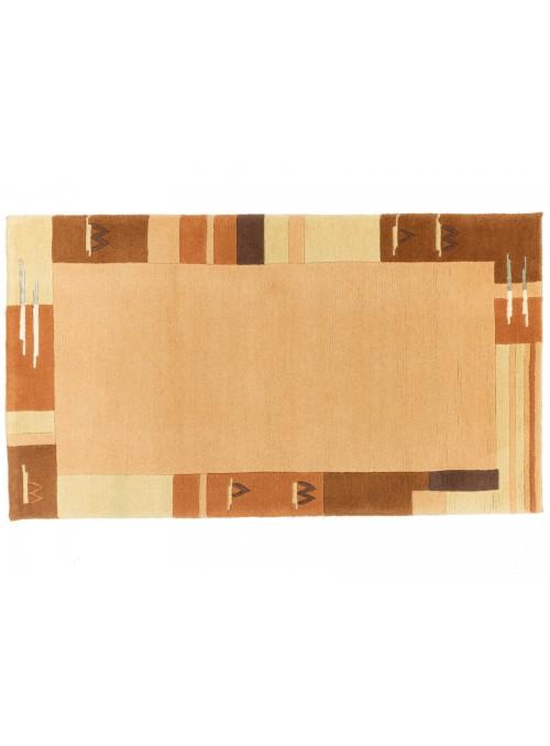 Teppich Nepal Orange 90x160 cm Indien - 100% Schurwolle