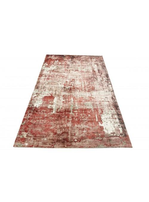 Teppich Handloom Print Rot 160x230 cm Indien - 100% Viskose