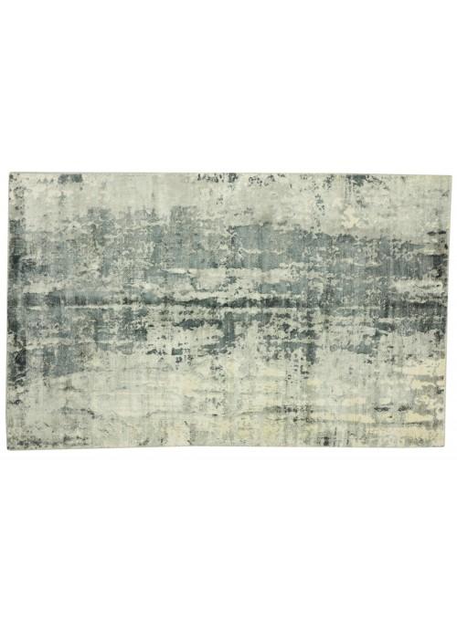 Teppich Handloom Print Grau 160x230 cm Indien - 100% Viskose