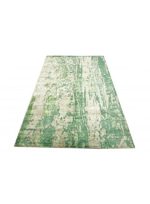 Teppich Handloom Print Grün 160x230 cm Indien - 100% Viskose
