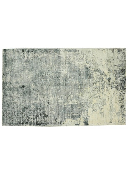 Teppich Handloom Print Grau 160x200 cm Indien - 100% Viskose