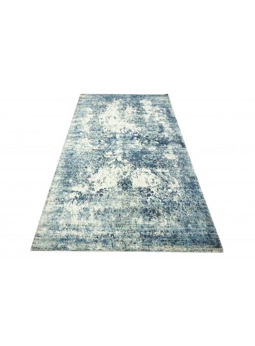 Teppich Handloom Print Blau 150x230 cm Indien - 100% Viskose