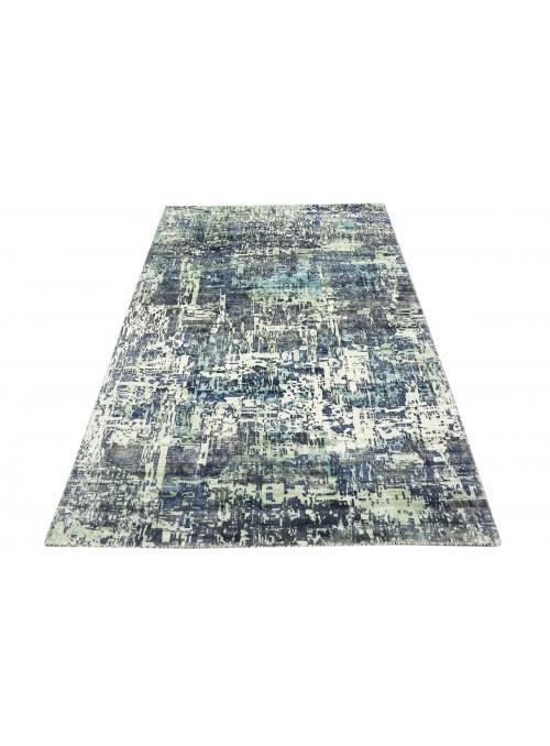 Teppich Handloom Print Blau 160x220 cm Indien - 100% Viskose