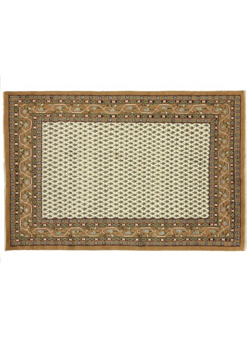Teppich Mir Beige 200x300 cm Indien - 100% Schurwolle