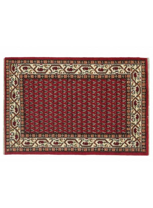 Teppich Mir Rot 120x180 cm Indien - 100% Schurwolle
