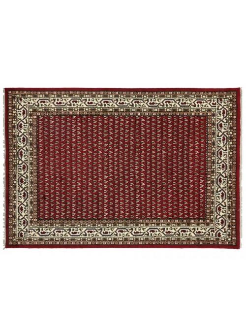 Teppich Mir Rot 200x300 cm Indien - 100% Schurwolle