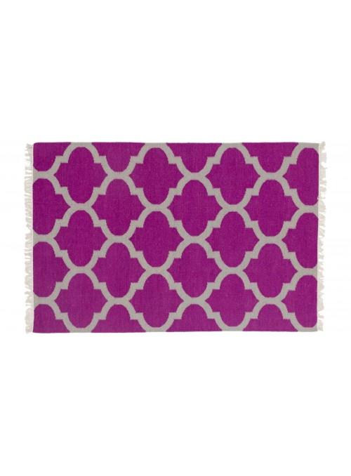 Teppich Durrie Lila 120x180 cm Indien - Wolle, Baumwolle