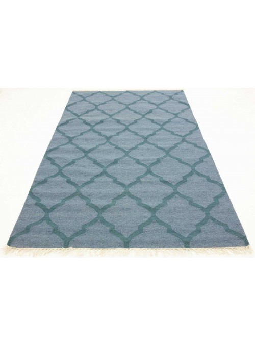 Carpet Durable Blue 170x240 cm India - Wool, Cotton