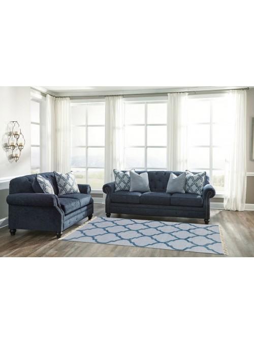 Teppich Durrie Blau 120x180 cm Indien - Wolle, Baumwolle