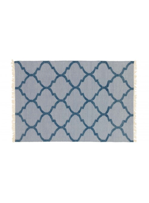Carpet Durable Blue 120x180 cm India - Wool, Cotton
