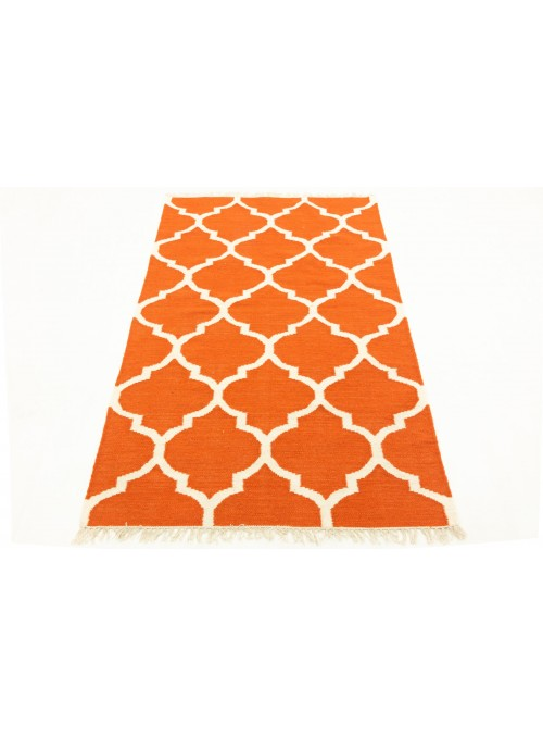 Carpet Durable Orange 120x180 cm India - Wool, Cotton
