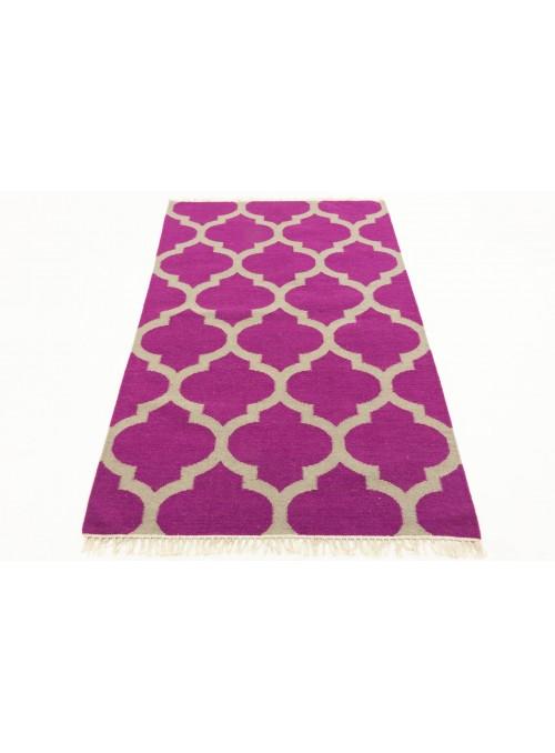 Teppich Durrie Lila 170x240 cm Indien - Wolle, Baumwolle