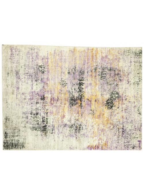 Teppich Handloom Print Lila 160x230 cm Indien - 100% Viskose