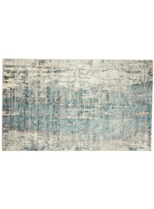 Teppich Handloom Print Grau 200x300 cm Indien - 100% Viskose