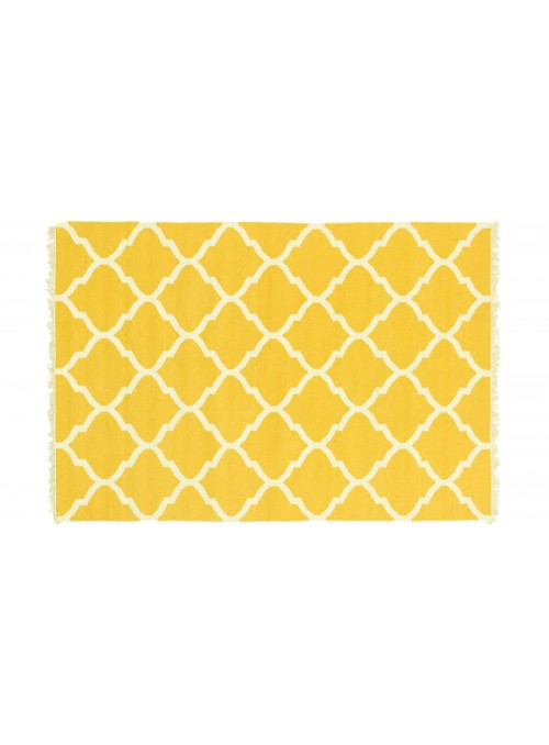 Carpet Durable Yellow 170x270 cm India - Wool, Cotton