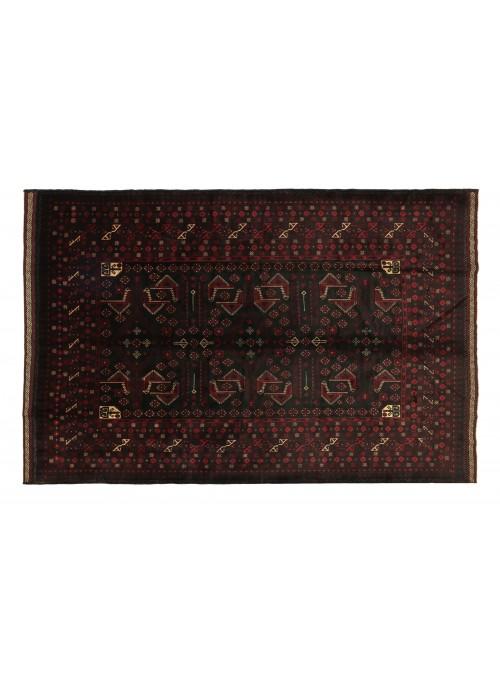Teppich Beloutsch Schwarz 210x270 cm Afghanistan - 100% Schurwolle