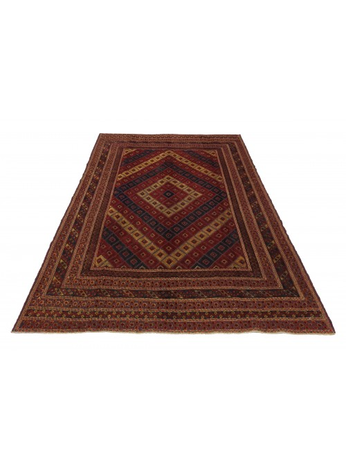Teppich Gol Barjasta Sumakh Rot 220x270 cm Afghanistan - 100% Schurwolle
