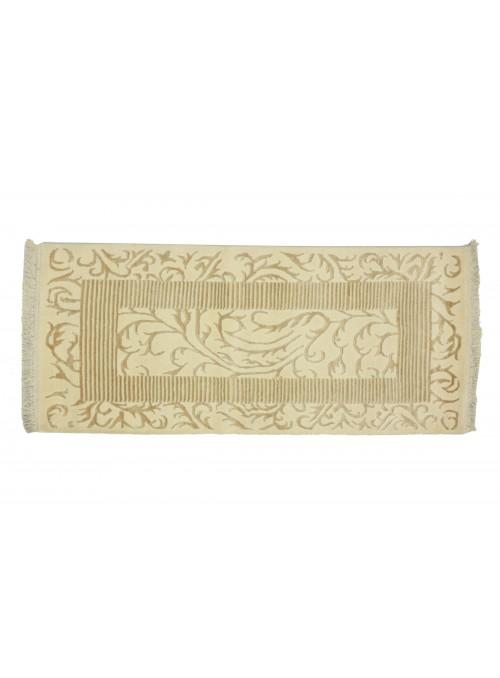 Teppich Asman Weiss 80x150 cm Indien - 95% Schurwolle 5% Acryl