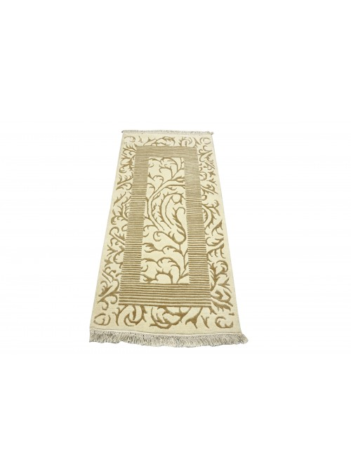 Carpet Asman White 80x150 cm India - 95% Wool, 5% acryl
