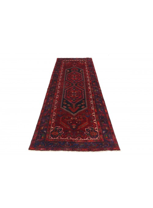 Carpet Hamadan Red 140x330 cm Iran - 100% Wool