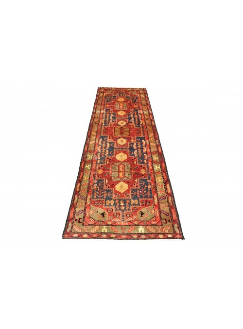 Carpet Hamadan Red 120x320 cm Iran - 100% Wool