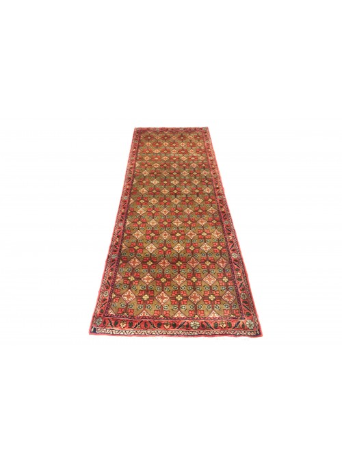 Dywan Hamadan Beżowy 110x260 cm Iran - 100% Wełna owcza