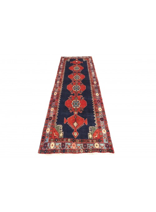 Carpet Hamadan Red 110x300 cm Iran - 100% Wool