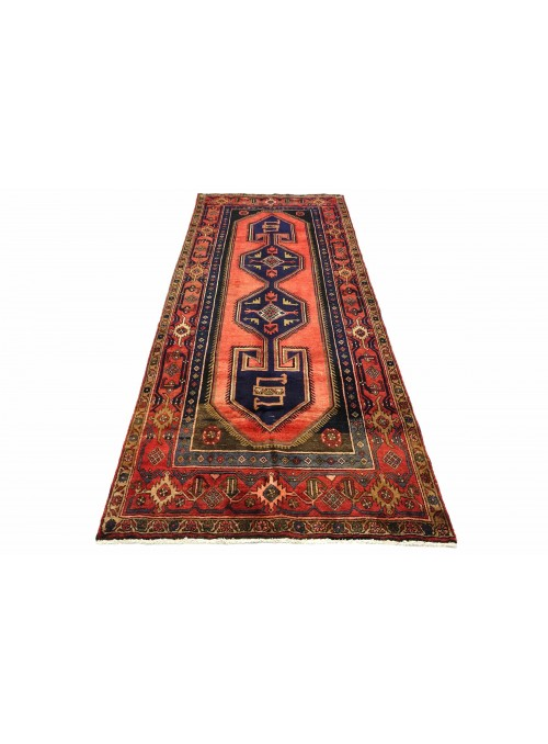 Carpet Hamadan Orange 140x300 cm Iran - 100% Wool