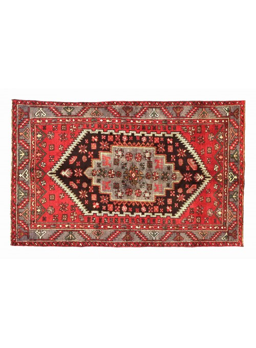Teppich Hamadan Rot 140x200 cm Iran - 100% Schurwolle