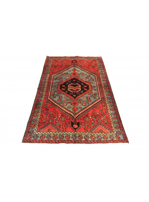 Carpet Hamadan Red 140x190 cm Iran - 100% Wool